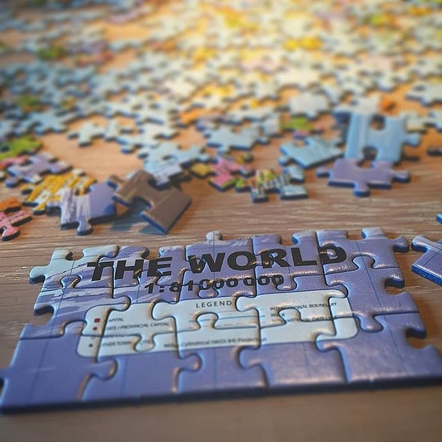 The World. Looking for new places to visit. #puzzle #theworld #puzzleplay #oddlysatisfying #iknowthepiecesfit