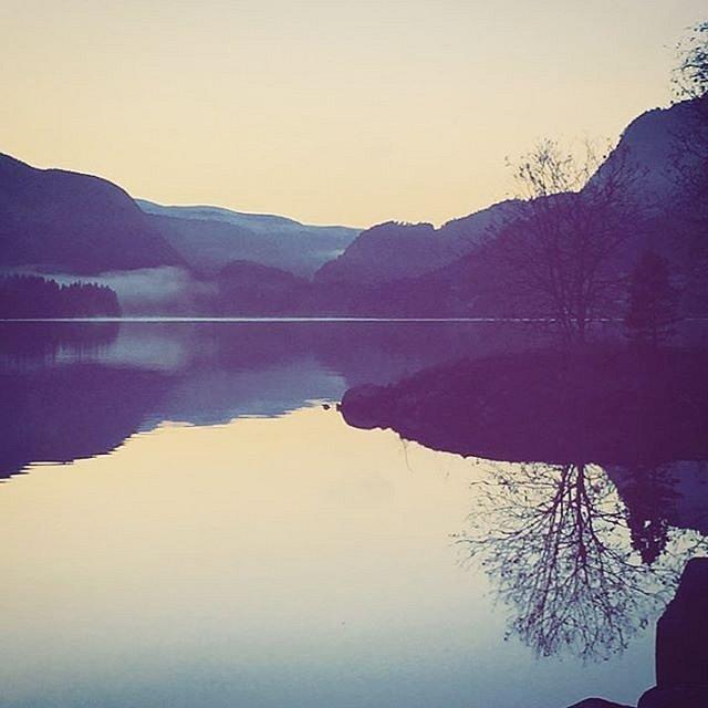 Hallingskarvet & Holsfjorden #myhometown #reflectingmoments #holsfjorden #hallingskarvet
